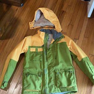 Planet earth snowboarding jacket large
